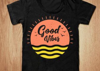 Good vibes t-shirt design, Vibes shirt, Summer shirt, Summer Paradise, Sunrise t shirt, Sunset tshirt, Funny Summer vibes tshirt, Summer tees