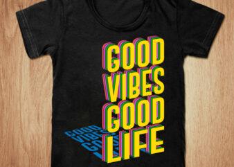 Good vibes good life t-shirt design, Good vibes shirt, Vibes shirt, Summer, Good life tshirt, Funny Summer vibes tshirt, Summer tees