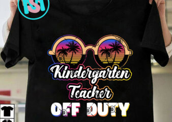 Kindergarten Teacher Off Duty Sunglasses Beach Sunset PNG, Teacher Off Duty PNG, Sunglasses Beach PNG Instant Download