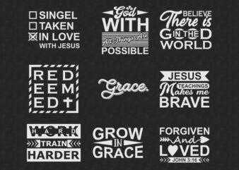 Christian Jesus Quotes Designs Bundle