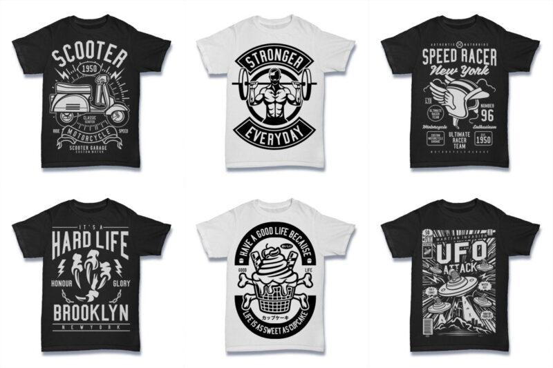 850 Tshirt Designs Retro MEGA BUNDLE
