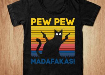 Pew Pew madafakas t-shirt design, Pew pew shirt, Cat shirt, Cartoon cat tshirt, Funny Cat tshirt, Pew pew sweatshirts & hoodies