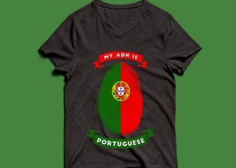 my adn is Portuguese t shirt design -my adn Portuguese t shirt design – png -my adn Portuguese t shirt design – psd