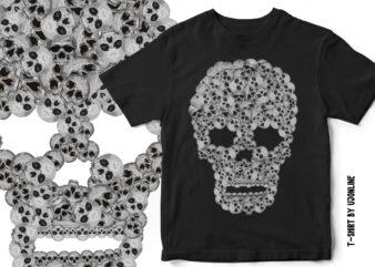 Skulls and Skulls T-Shirt Design