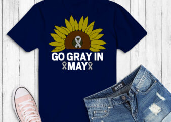 Sunflower Go Gray in May svg, Brain Cancer Rainbow Awareness png,Brain Cancer Rainbow Awareness Month, cancer, awareness, brain, fight, ribbon, grey, tumor, wear, support, want, breast, statement, survivor, family, raise, month, design, injury, lung,