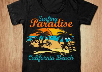 Surfing Paradise California Beach t-shirt design, Surfing Paradise shirt, California shirt, California, California Beach tshirt, Surfing tshirt, funny Surfing Beach tshirt, Surfing Paradise California Beach sweatshirts & hoodies