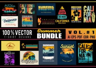 20 T-shirt design Summer Bundle