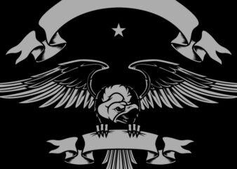 Vulture Badge Team T-Shirt Design