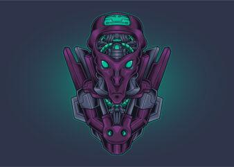 Alien Head Cyberpunk
