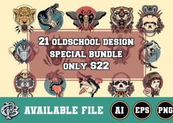 21 oldschool designs bundle only $22