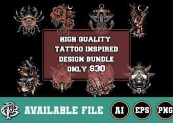 high quality tattoo inspired design bundle