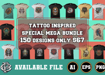 150+ tattoo inspired special mega bundle