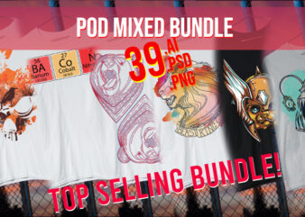 Mixed Bundle / POD Starter Pack / Abstract / Sea Life / Isometric / 4th of July / St. Patrick / Dinosaur / Space / Water color Best Seller