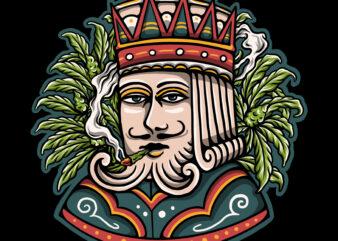 Eternal king illustration design for t-shirt