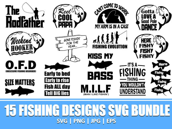 Download The Rodfather Svg Fishing Dad Fishing Quotes Fishing Designs Fishing Svg Funny Fishing Fishing Humor Fishing