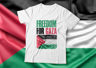 Freedom for Gaza| t-shirt design for sale.