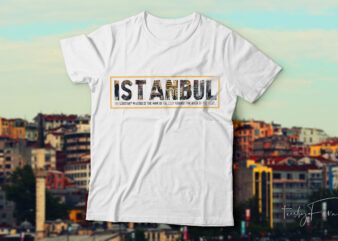 Istanbul t-shirt design for sale.