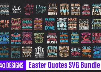 Easter Quotes Designs Bundle | Easter tshirt bundle | Easter svg bundle | Easter svg cut files