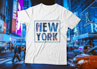 New York t-shirt design for sale.