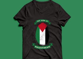 my adn is palestinian t shirt design -my adn palestinian t shirt design – png -my adn palestinian t shirt design – psd
