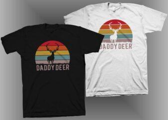 Daddy Deer t shirt design – Daddy Deer svg png ai eps – Father's day t shirt design – Deer svg png – Deer shirt design – Hunting shirt design – Dad svg png – Daddy deer vector illustration for commercial use