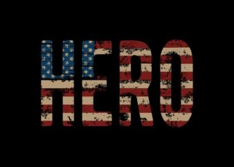 American Hero t shirt Design, 4th july t shirt design, 4th of july svg, American t shirt design, USA Flag Typography t shirt design for commercial use