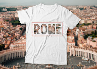 Rome t-shirt design for sale.