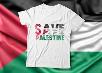 Save Palestine| t-shirt design for sale.
