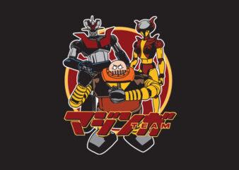 mazinger team