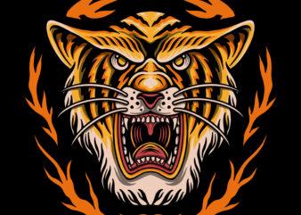 The tiger king tshirt design