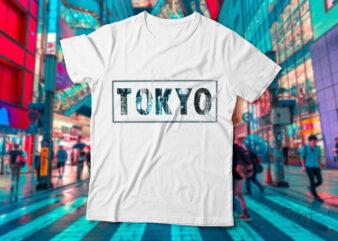 Tokyo city t-shirt design for sale.