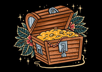 Treasure box traditional t-Shirt design