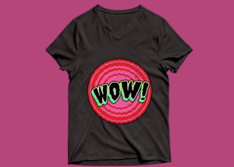 wow t shirt design – wow t shirt design – png – wow t shirt design – psd