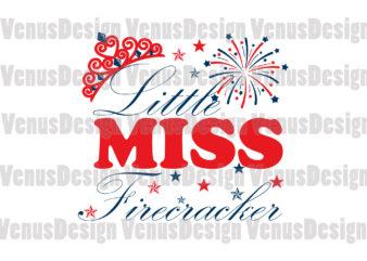 Little Miss Firecracker Editable Design