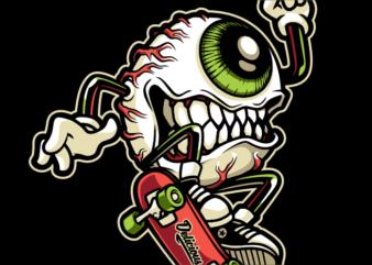 Monster eye Skateboard