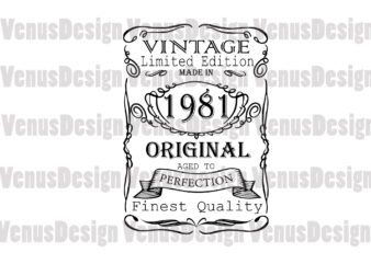 Made In 1981 Vintage Limited Edition Editable Design