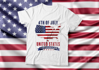 4th of July| United states| independence day t-shirt design for sale.