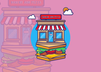 BAKERY AND CAKE SHOP T-shirt Design