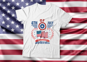 4th of July| Independence day t-shirt design for sale.