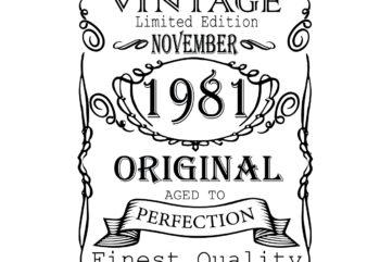 November 1981 Birthday Vintage Limited Edition Editable Design