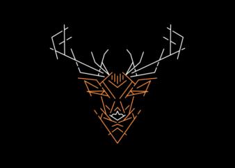 Wild Deer Outline