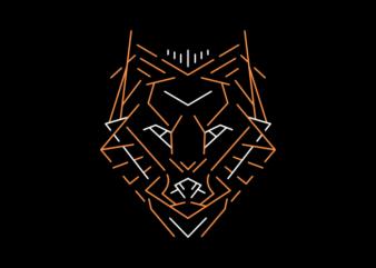 Wild Wolf Outline