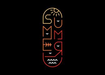 Summer Skate Board Typography