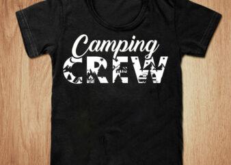 Camping Crow t-shirt design, Camping shirt, Camper shirt, Mountain tshirt, Adventure tshirt, Funny Camping tshirt, Camping sweatshirts & hoodies