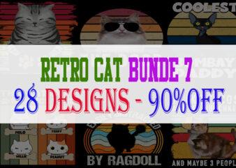 Cat Bundle Part 7 – 28 Design -90% OFF
