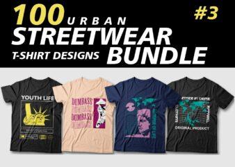 Streetwear t shirt design bundle, urban t shirt design, cool t shirt design, trendy t shirt designs, best selling t shirt design bundles vector packs, svg, png, pod