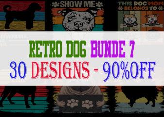Dog Bundle Part 7 – 30 Designs – 90% OFF