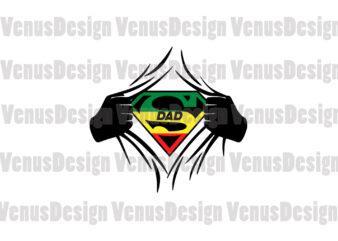 Super Black Dad Editable Design