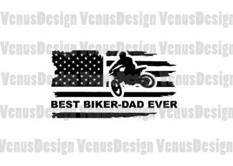 Best Biker Dad Ever Editable Design