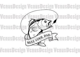 Reel Cool Dad Editable Design